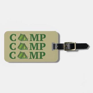 El acampar de verano verde de la tienda del CAMPO Etiquetas Para Maletas