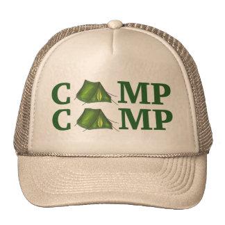 El acampar de verano verde de la tienda del CAMPO Gorras De Camionero