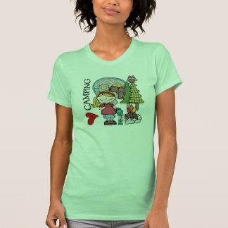 El acampar del amor del chica I del pelo rubio Camisetas
