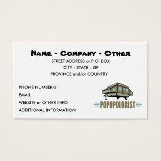 El acampar divertido tarjeta de negocios