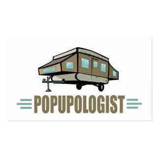 El acampar divertido tarjetas de visita