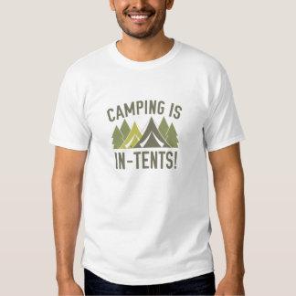¡El acampar es intentos! Camiseta