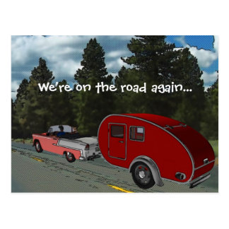 El acampar es mi vida tarjetas postales