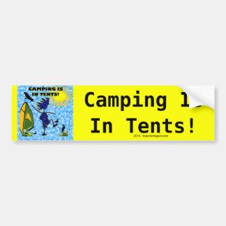El acampar está en diseño de las tiendas pegatina para coche