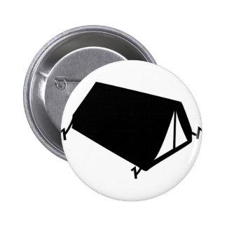 el acampar tiende el icono chapa redonda de 5 cm