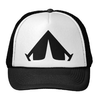 el acampar tiende el icono gorras de camionero