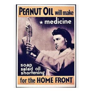 El aceite de cacahuete hará la medicina tarjetones