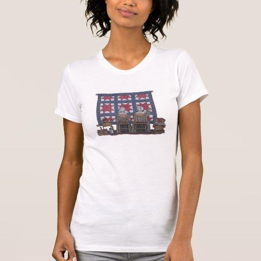 El acolchar de las mujeres de Amish Camiseta
