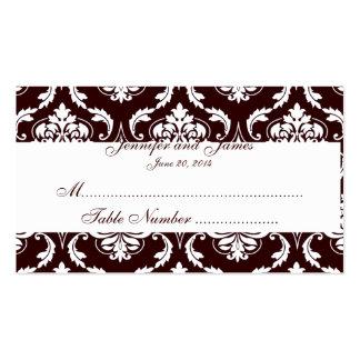 El acompañamiento de la tabla del boda carda el da plantillas de tarjetas de visita
