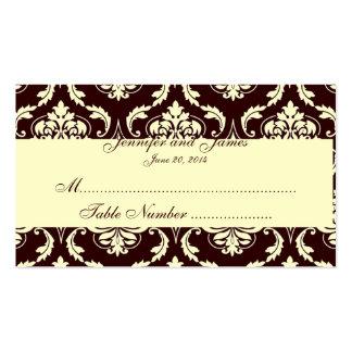 El acompañamiento de la tabla del boda carda el da plantillas de tarjeta de negocio