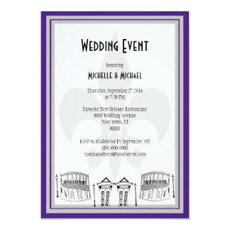 El acontecimiento del boda de New Orleans invita Invitación 12,7 X 17,8 Cm