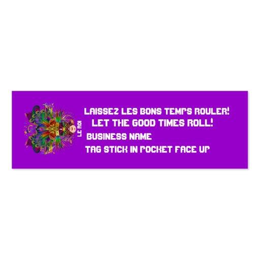 El acontecimiento del carnaval del carnaval ve por tarjetas de visita