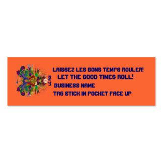 El acontecimiento del carnaval del carnaval ve por tarjeta de visita