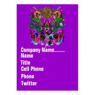 El acontecimiento del carnaval del carnaval ve por tarjetas de visita grandes