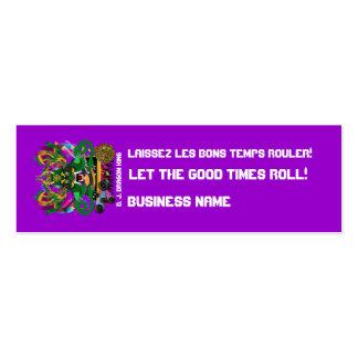 El acontecimiento del carnaval ve por favor notas tarjetas de visita mini