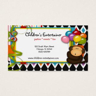 El actor de los niños tarjeta de negocios