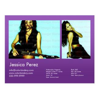 El actor y modela 2 tiró los comp violetas del Hea Tarjeta Postal
