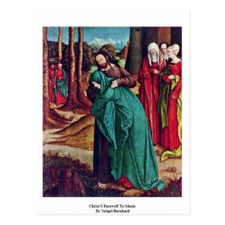 El adiós de Cristo a Maria de Strigel Bernhard Tarjetas Postales