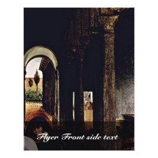 El adiós de Cristo al detalle de Maria por la lote Flyer Personalizado