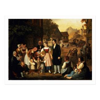 El adiós de Dorothea, Hermann de Goethe de 'y hace Postal