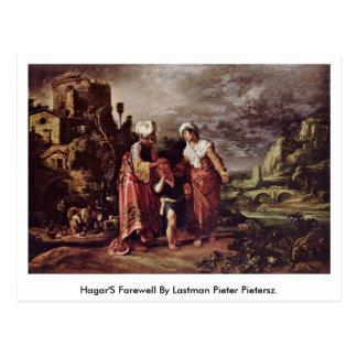 El adiós de Hagar de Lastman Pieter Pietersz Tarjetas Postales