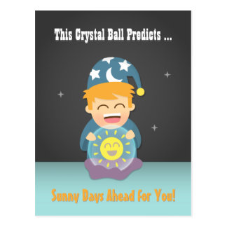 El adivino de la bola de cristal anima para arriba tarjetas postales
