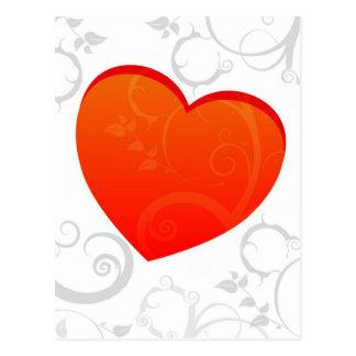 El adorno de la tarjeta del día de San Valentín Postal