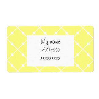 el adorno modela el jaune de los géométriques etiqueta de envío