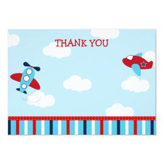 El aeroplano le agradece las tarjetas invitación 12,7 x 17,8 cm