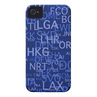 El aeropuerto de la Tres-Letra cifra el azul iPhone 4 Case-Mate Cobertura