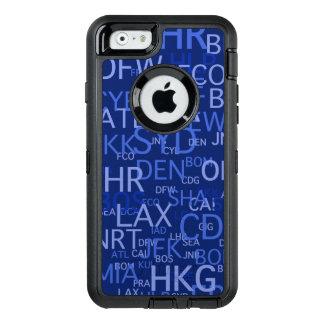 El aeropuerto del viajero frecuente cifra el azul funda otterbox para iPhone 6/6s