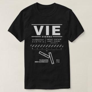 El aeropuerto internacional de Viena COMPITE la Camiseta