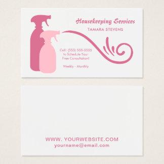 El aerosol rosado elegante embotella servicios de tarjeta de visita