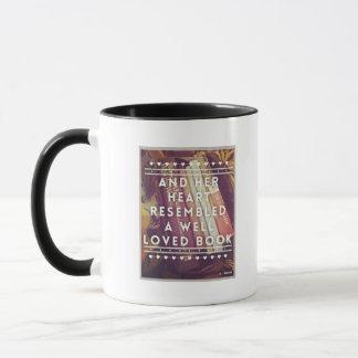 El aficionado a los libros taza de cerámica