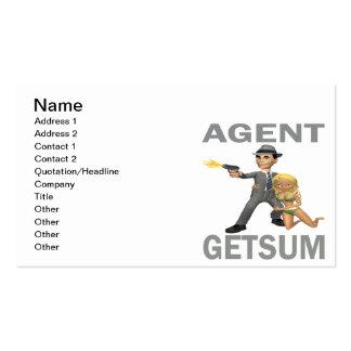 El agente consigue suma tarjetas de visita