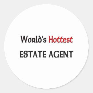 El agente de la propiedad inmobiliaria más pegatina redonda