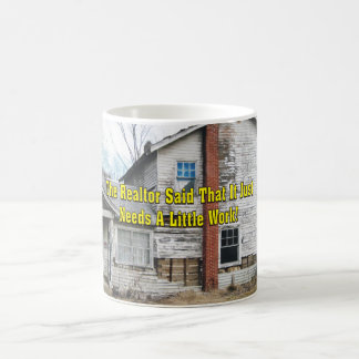 El agente inmobiliario dijo que apenas necesita un taza de café