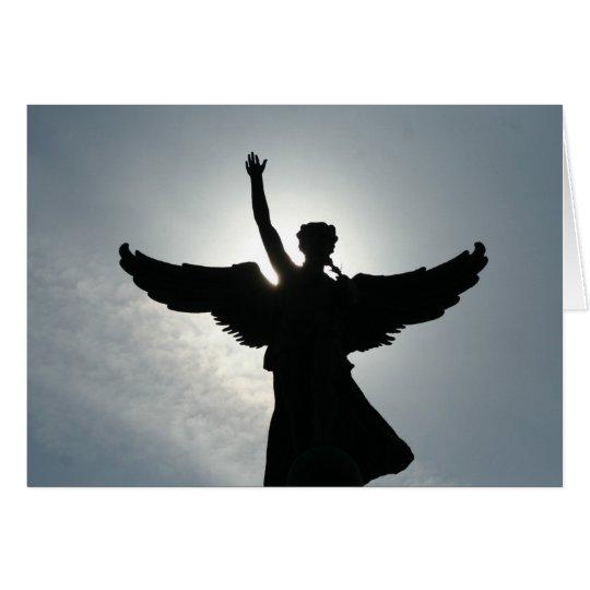 El agitar del ángel tarjeta de felicitación