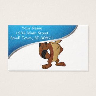 el agitar del dibujo animado del mapache tarjeta de negocios