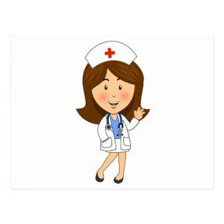 El agitar tradicional de la enfermera del dibujo postal
