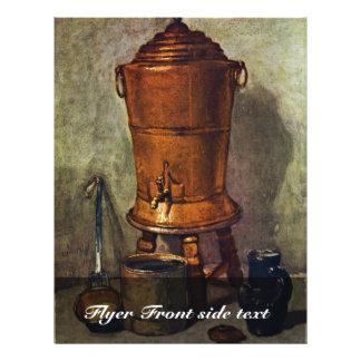 El agua de Chardin Jean-Baptiste Siméon (el mejor Folleto 21,6 X 28 Cm