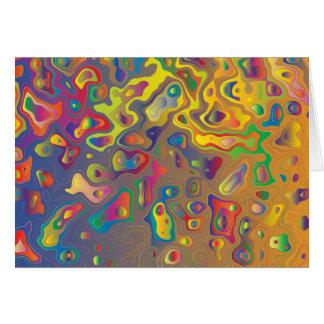 El agua de la prisma del arco iris cae la tarjeta
