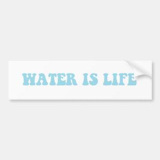 El agua es pegatina de la vida pegatina para coche