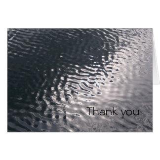 El agua le agradece las tarjetas