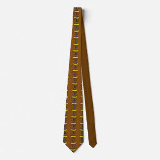 El al del golf del disco sobre la corbata para