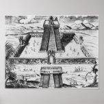 El alcalde de Templo en Tenochtitlan Póster