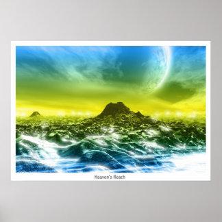 """El alcance del cielo (""""hacia fuera allí"""" versión) póster"""