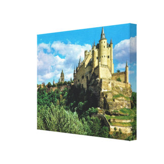 EL Alchzar de España Segovia del vintage de la rep Impresion De Lienzo