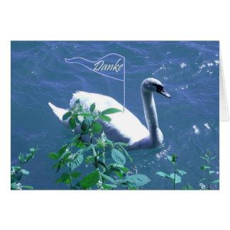 El alemán del cisne de la navegación le agradece tarjeta de felicitación