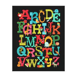 El alfabeto caprichoso para los niños estiró arte
